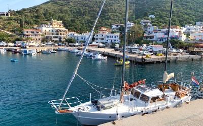 Vakantie op Fourni bij de haven