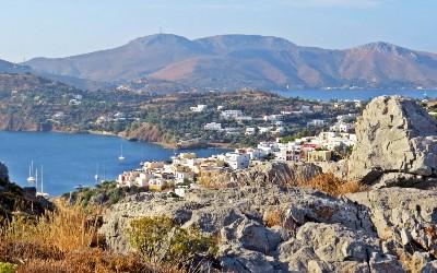 Uitzicht Leros vanaf het fort van Agia Marina