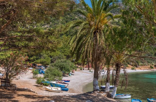 Mourtia beach op Samos