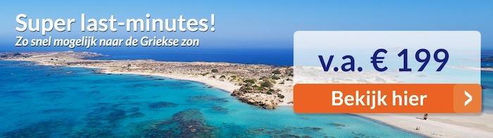 Griekenland last minute vakanties zomer 2020