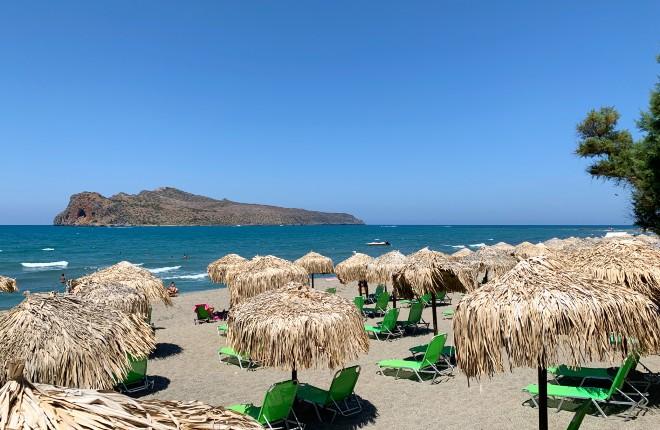 Platanias Kreta het strand