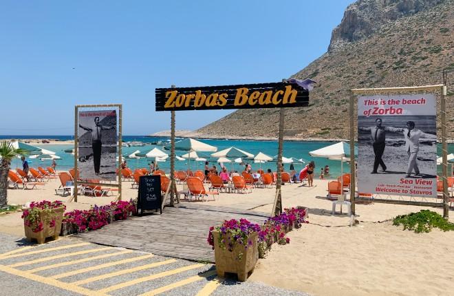 Stavros Zorbas beach op Kreta