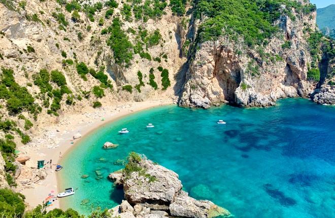 Giali beach op Corfu