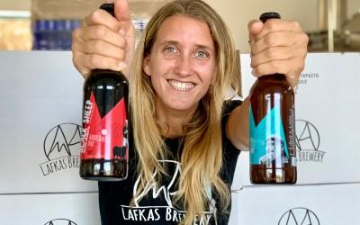 White Mountains bier van Lafkas op Kreta