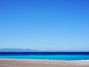 Het weer op Rhodos zeewater