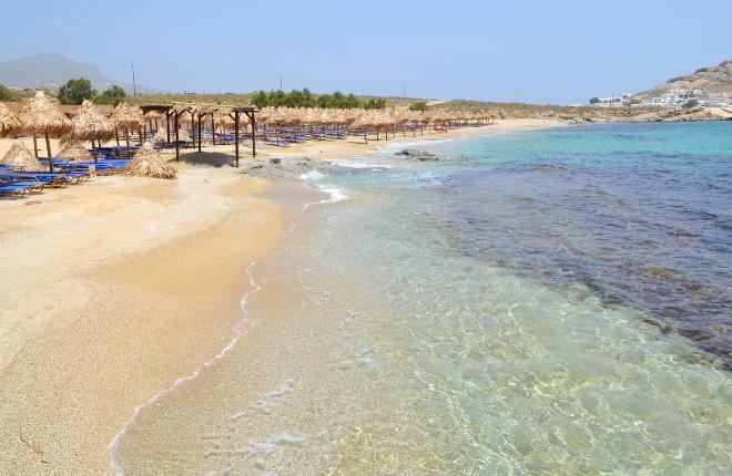 Agia Anna beach en Kalafati op Mykonos