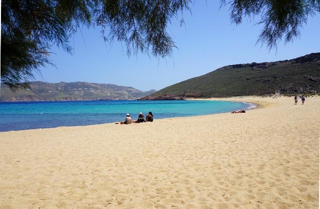 Ftelia beach op Mykonos