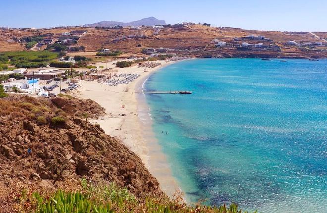 Kalo Livadi beach op Mykonos
