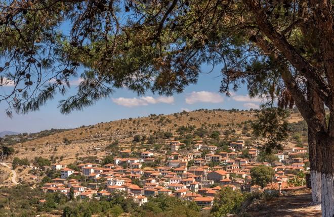 Skalochori op Lesbos in Griekenland