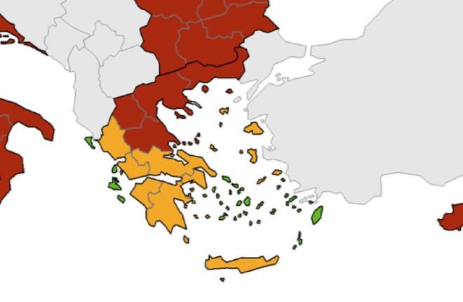 Veel Griekse eilanden op 'groen'