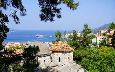 Groene Griekse eilanden Samos
