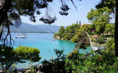 Groene Griekse eilanden Poros