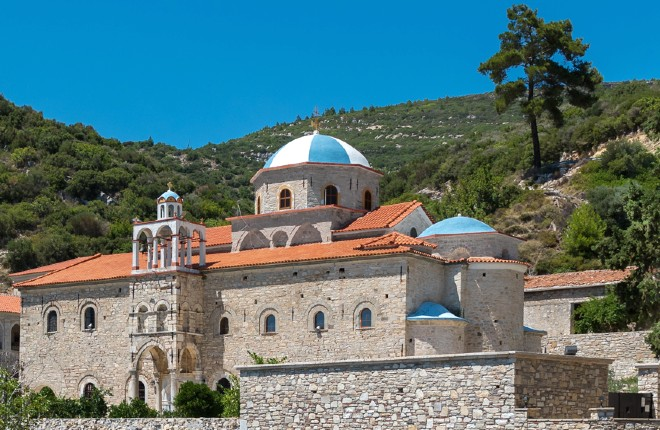 Moni Timiou Stavrou klooster op Samos