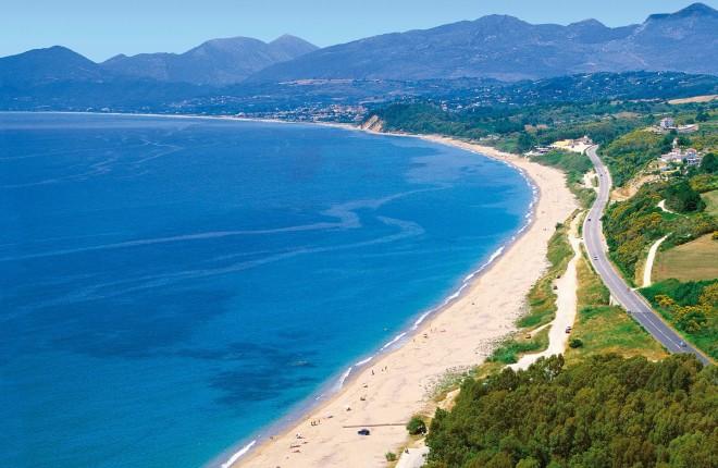 Monolithi beach in Epirus Griekenland