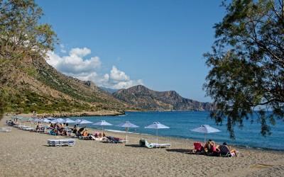 Paleochora strand op Kreta