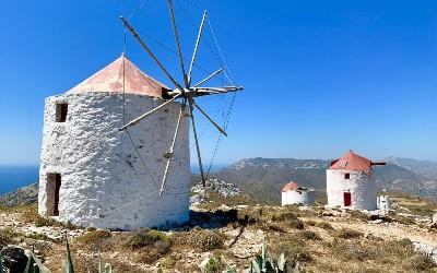Chora Amorgos de windmolens