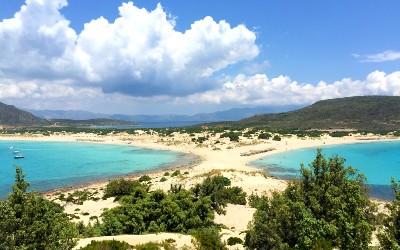 Simos beach op de Peloponnesos