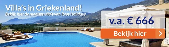 Griekenland vakantie aanbiedingen villa's