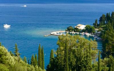 Kouloura in het noordoosten van Corfu
