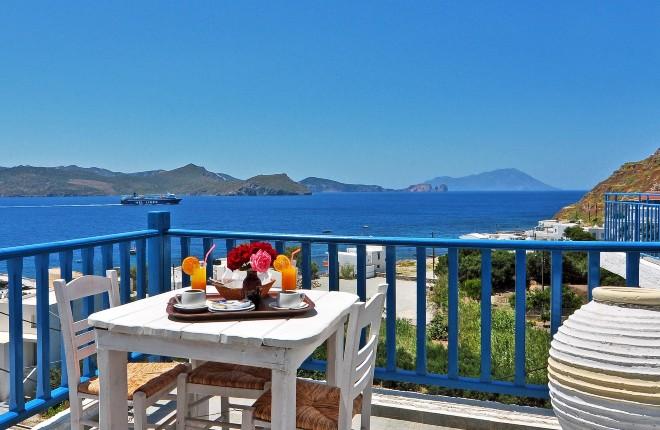 Panorama Hotel op Milos in Griekenland