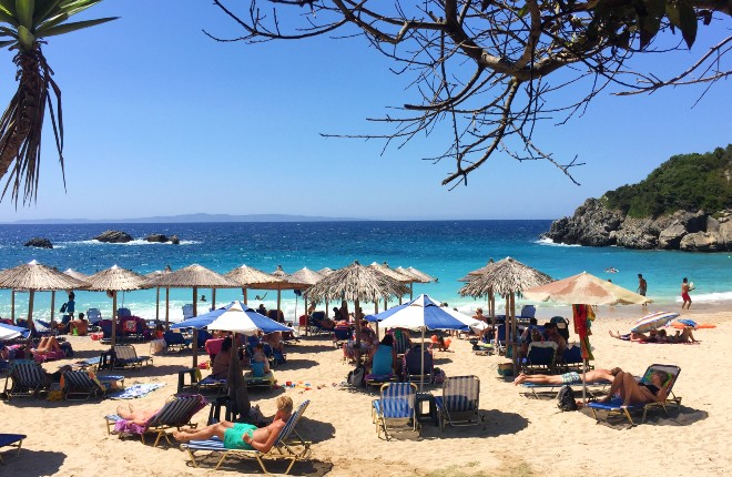Sarakiniko beach op Epirus