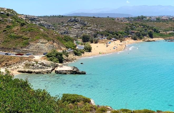 Tersanas beach op Kreta