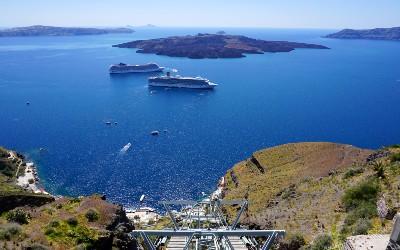 Fira kabelbaan op Santorini