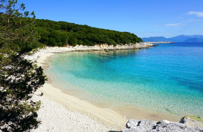 Emblisi (Emplisi) beach op Kefalonia