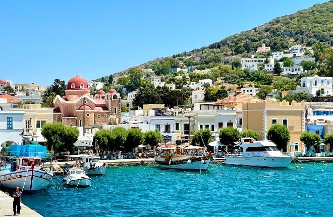 Agia Marina op Leros in Griekenland