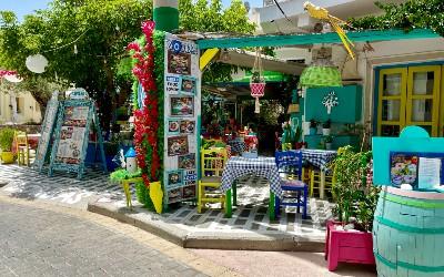 Kos stad oude gedeelte Platia Diagora
