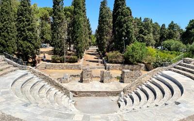 Kos stad oude theater en agora