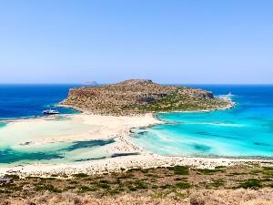 Balos beach op Kreta bij Chania