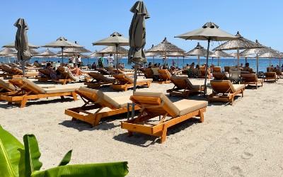 Het strand van Lambi op Kos