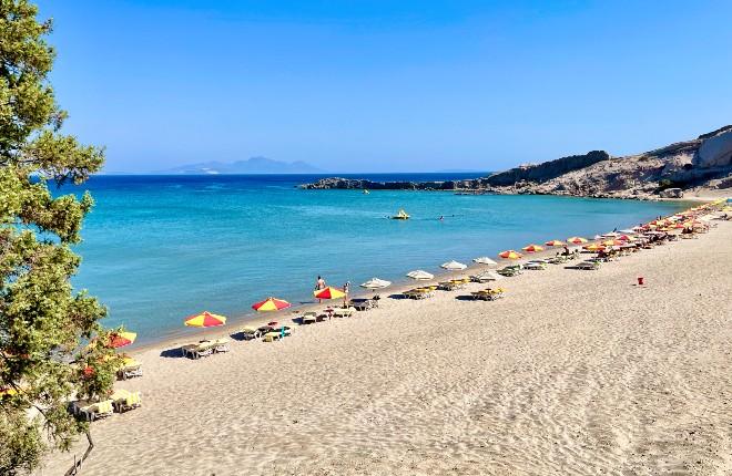 Paradise beach op het eiland Kos