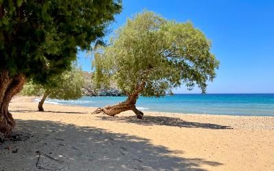 Psili Ammos beach op Patmos
