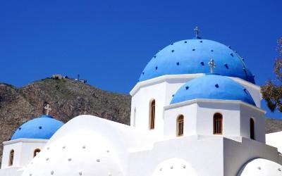 Santorini bij 10 populairste eilanden van Griekenland