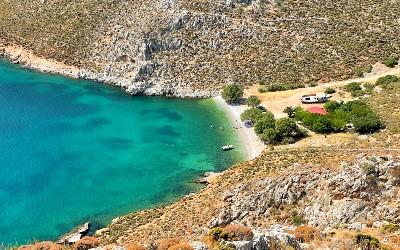 Mooiste stranden van Kalymnos Akti beach