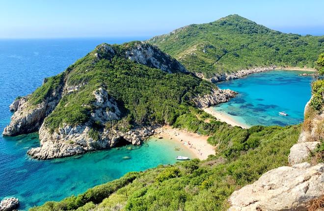 Porto Timoni beach op Corfu